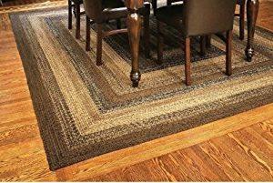 IHF Home Decor Braided Rug Cappuccino Design Rectangle Area Rug Jute Fiber 5 X 8 0 1 300x201