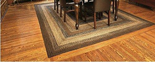 IHF Home Decor Braided Rug Cappuccino Design Rectangle Area Rug Jute Fiber 5 X 8 0 1