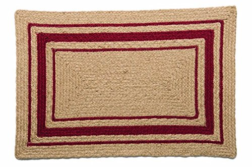 IHF Home Decor Cameron Braided Rug Rectangle Accent Area Floor Carpet Jute Natural Fiber 20 X 30 To 8x10 27x48 0