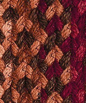 IHF Home Decor Jute Braided Rug Cinnamon Design Rectangle Accent Indoor Outdoor Floor Carpet Wine Sage Tan Hand Woven Reversible Natural Fiber 5 X 8 0 2 300x360