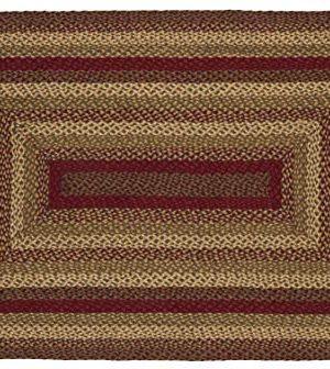 IHF Home Decor Jute Braided Rug Cinnamon Design Rectangle Accent Indoor Outdoor Floor Carpet Wine Sage Tan Hand Woven Reversible Natural Fiber 5 X 8 0 300x336