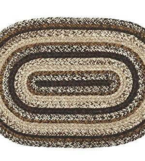 IHF Home Decor Oval Braided Area Rug Jute Fiber Chestnut Lane Design 20x30 To 8x10 6x9 0 300x333