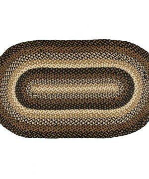 IHF Home Decor Oval Braided Rug Jute Fiber 6 X 9 Feet Area Floor Carpet Stallion Design 0 300x360
