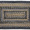 IHF Home Decor River Shale Rectangle Jute Braided Area Rug Indoor Outdoor Kitchen Accent Flooring Carpet Blue Black Tan Natural Fiber 20x30 To 8x10 36x60 0 100x100