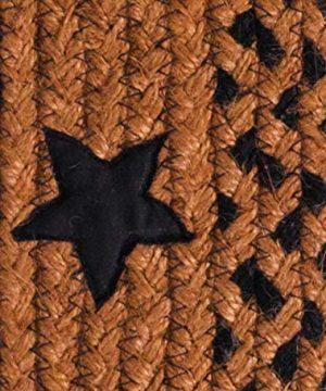IHF Home Decor Star Black Oval Jute Braided Area Rug Floor Carpet 5 X 8 Feet 0 0 300x360