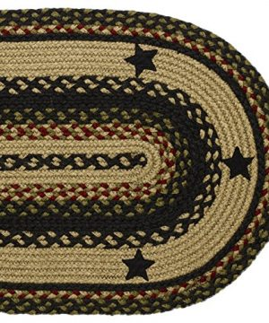 IHF Home Decor Tartan Star Oval Jute Braided Area Rug Floor Carpet 5 X 8 Feet 0 2 300x360