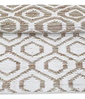 Jute Cotton Rug 3x5 Reversible Hand Woven Farmhouse Vintage Natural White RugKitchen Rugs Farmhouse Rugs Rugs For Living BedroomWoven Rugs 0 300x349