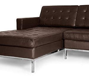 Kardiel Florence Knoll Style Sofa Sectional Left Choco Brown 100 Full Premium Leather 0 2 300x260