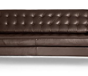 Kardiel Florence Knoll Style Sofa Sectional Left Choco Brown 100 Full Premium Leather 0 3 300x260