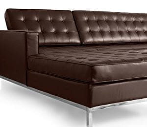 Kardiel Florence Knoll Style Sofa Sectional Left Choco Brown 100 Full Premium Leather 0 4 300x260