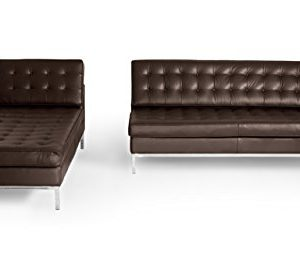 Kardiel Florence Knoll Style Sofa Sectional Left Choco Brown 100 Full Premium Leather 0 5 300x260