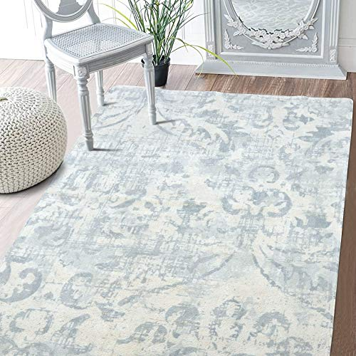 Faux Wool Non Slip Area Rug