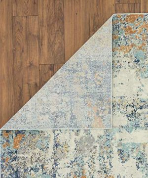 Luxe Weavers Abstract Blue Multi Colored 8x10 Area Rug 0 2 300x360