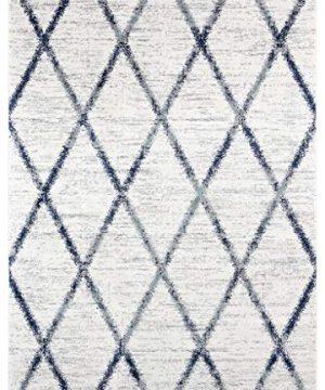Luxe Weavers Hampstead Ivory Trellis Abstract 8 X 10 Area Rug 0 300x360