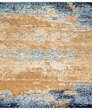 Luxe Weavers Howell Collection Abstract 8x10 Blue Area Rug 0 300x360
