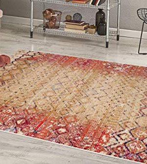 Luxe Weavers Howell Collection Beige Oriental 8x10 Area Rug 2458 0 0 300x333