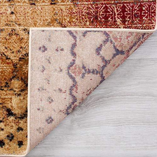 Luxe Weavers Howell Collection Beige Oriental 8x10 Area Rug 2458 0 2