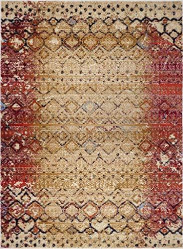 Luxe Weavers Howell Collection Beige Oriental 8x10 Area Rug 2458 0