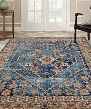 Luxe Weavers Howell Collection Oriental 8x10 Blue Area Rug 0 0 300x360