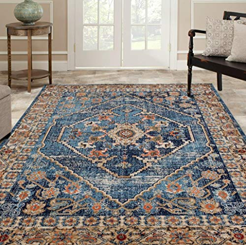 Luxe Weavers Howell Collection Oriental 8x10 Blue Area Rug 0 0