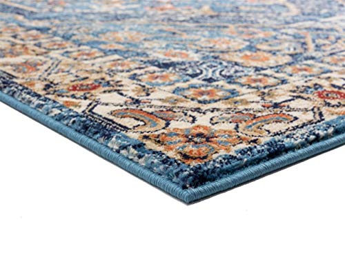 Luxe Weavers Howell Collection Oriental 8x10 Blue Area Rug 0 1