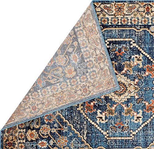 Luxe Weavers Howell Collection Oriental 8x10 Blue Area Rug 0 2