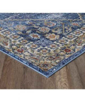 Luxe Weavers Howell Collection Oriental 8x10 Blue Area Rug 0 3 300x360