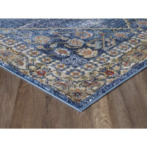Luxe Weavers Howell Collection Oriental 8x10 Blue Area Rug 0 3