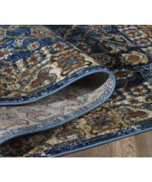 Luxe Weavers Howell Collection Oriental 8x10 Blue Area Rug 0 4 300x360
