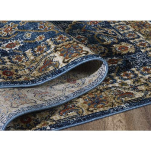 Luxe Weavers Howell Collection Oriental 8x10 Blue Area Rug 0 4