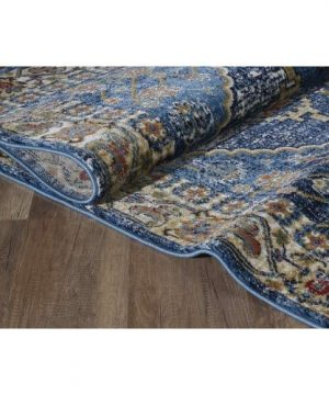 Luxe Weavers Howell Collection Oriental 8x10 Blue Area Rug 0 5 300x360