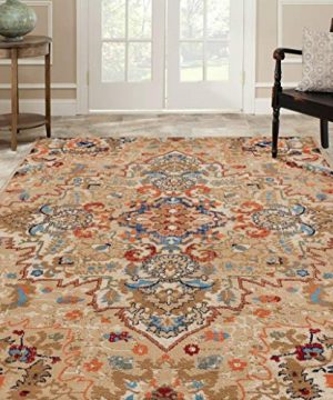 Luxe Weavers Howell Collection Oriental 8x10 Cream Area Rug 0 0 300x360