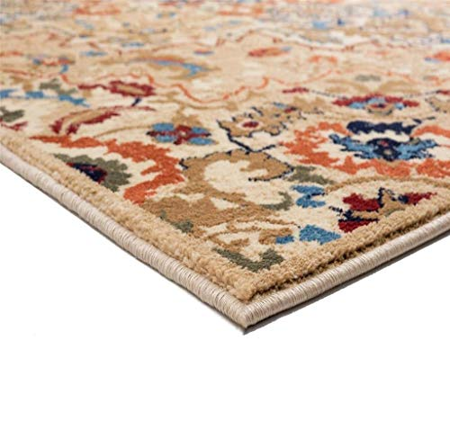 Luxe Weavers Howell Collection Oriental 8x10 Cream Area Rug 0 1