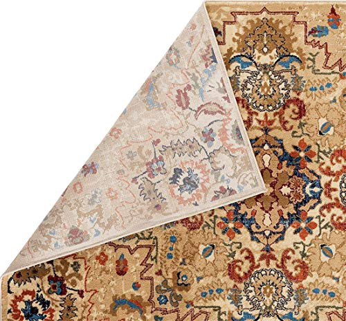 Luxe Weavers Howell Collection Oriental 8x10 Cream Area Rug 0 2