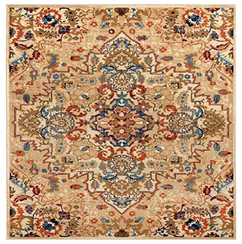 Luxe Weavers Howell Collection Oriental 8x10 Cream Area Rug 0