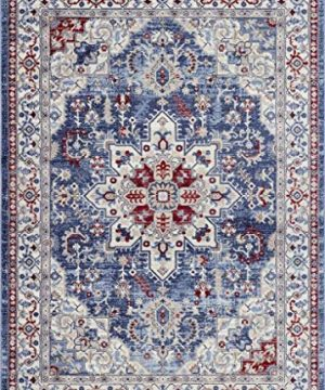 Luxe Weavers Victoria Collection Blue Oriental 8x10 Area Rug 7525 0 300x360