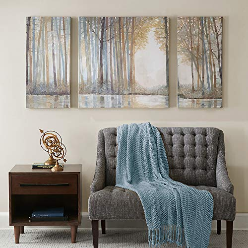 Madison Park MP95C 0041 Forest Reflections Wall Art Canvas Wall Art Rustic Home Dcor Autumn Color Bamboo Stretched Wall Art For Living Room 3 Piece Set Painting Canvas 0 0