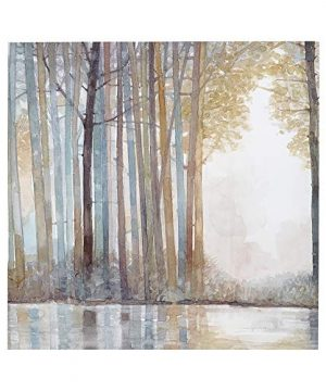Madison Park MP95C 0041 Forest Reflections Wall Art Canvas Wall Art Rustic Home Dcor Autumn Color Bamboo Stretched Wall Art For Living Room 3 Piece Set Painting Canvas 0 1 300x360