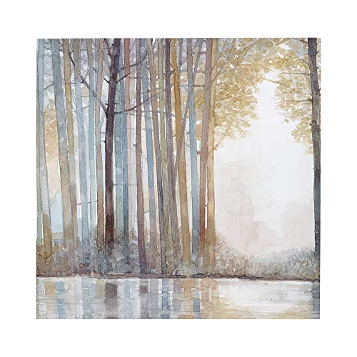 Madison Park MP95C 0041 Forest Reflections Wall Art Canvas Wall Art Rustic Home Dcor Autumn Color Bamboo Stretched Wall Art For Living Room 3 Piece Set Painting Canvas 0 1