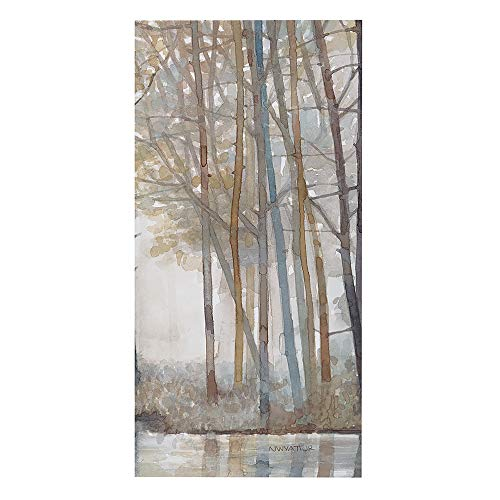 Madison Park MP95C 0041 Forest Reflections Wall Art Canvas Wall Art Rustic Home Dcor Autumn Color Bamboo Stretched Wall Art For Living Room 3 Piece Set Painting Canvas 0 2