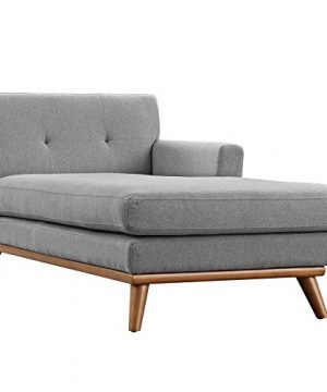 Modway Engage Mid Century Modern Upholstered Fabric Right Facing Sectional Sofa In Expectation Gray 0 3 300x360