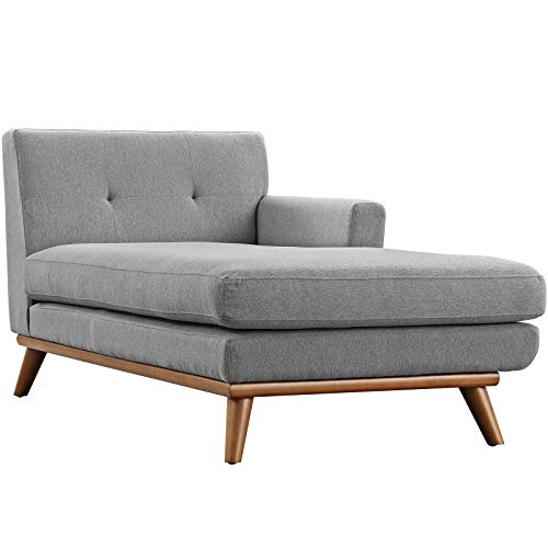 Modway Engage Mid Century Modern Upholstered Fabric Right Facing Sectional Sofa In Expectation Gray 0 3