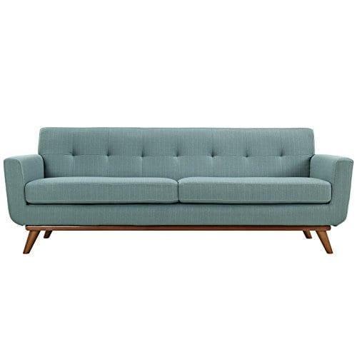 Modway Engage Mid Century Modern Upholstered Fabric Sofa In Laguna 0 0