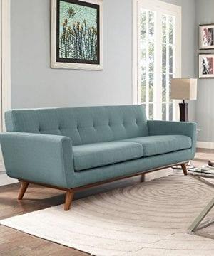 Modway Engage Mid Century Modern Upholstered Fabric Sofa In Laguna 0 2 300x360