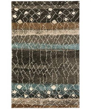 Mohawk Home Huxley Adobe Abstract Woven Shag Area Rug 5 X 8 Multicolor 0 300x360
