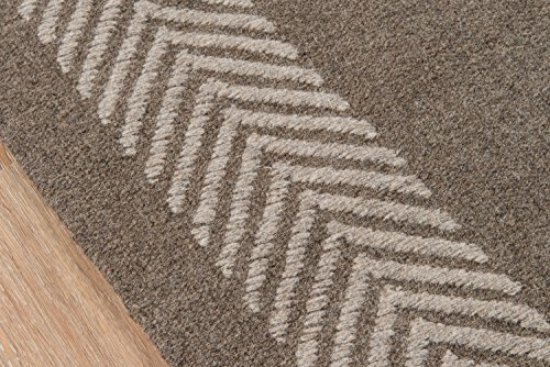 Momeni Rugs Mesa Collection 100 Wool Hand Woven Flatweave Transitional Area Rug 5 X 8 Natural Brown 0 1