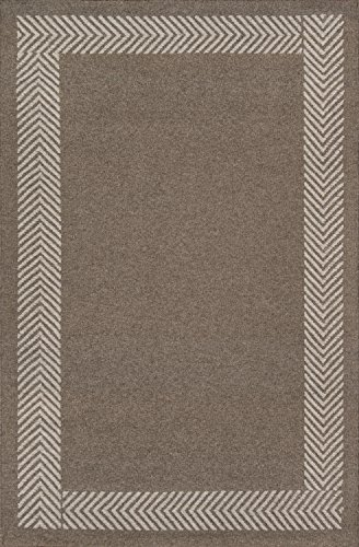 Momeni Rugs Mesa Collection 100 Wool Hand Woven Flatweave Transitional Area Rug 5 X 8 Natural Brown 0