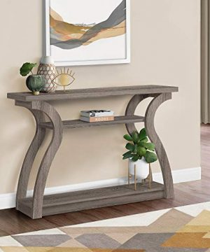 Monarch Specialties Hall Console Accent Table Dark Taupe 47L 0 300x360