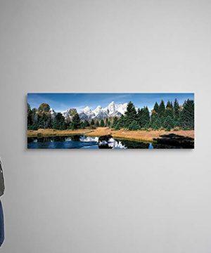 Moose Beaver Pond Grand Teton National Park WY Canvas Wall Art Print 60x20x125 0 0 300x360