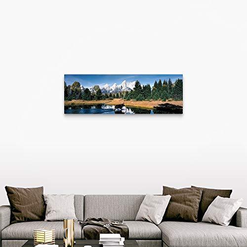 Moose Beaver Pond Grand Teton National Park WY Canvas Wall Art Print 60x20x125 0 1